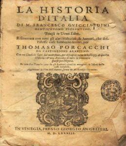 storia d'italia francesco guicciardini