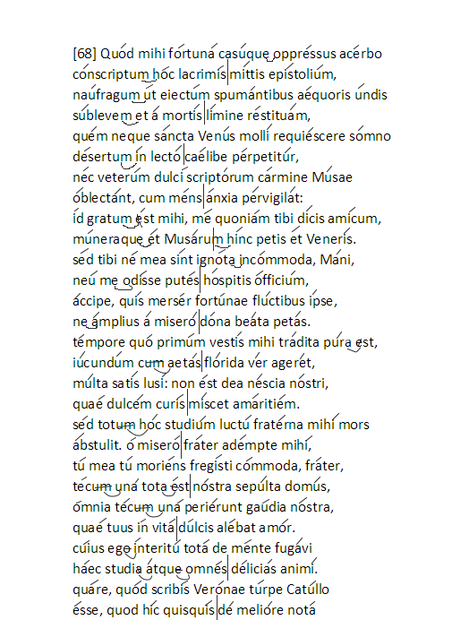 catullo carme 68