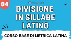 Divisione sillabe latino prosa