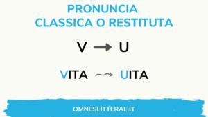 pronuncia latina suono v