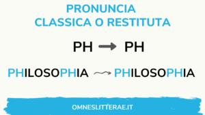 pronuncia suono ph latino classico